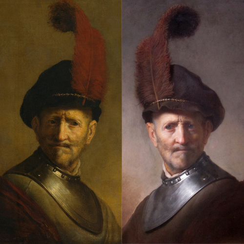 Rembrandt's 'An Old Man in Military Costume'